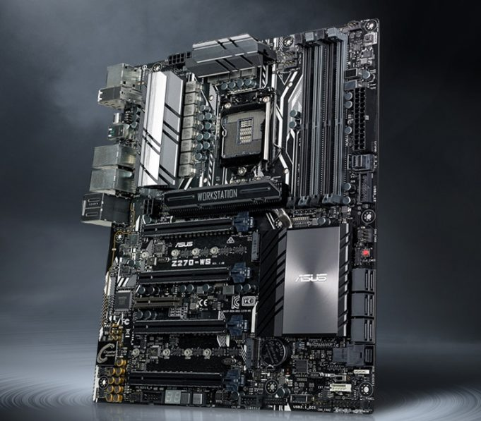 Системная плата Asus WS X299 SAGE оснащена семью слотами PCIe 3.0 x16